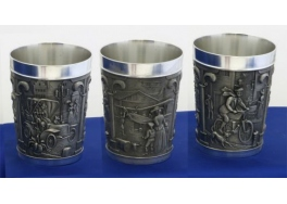Car, Airplaine and Motorcylce Pewter Goblet