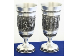 Knighters pewter goblet