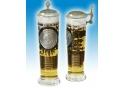 U.S. Marine Corps Column Glas mit Zinndeckel