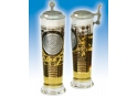 U.S. Army Column Glass with pewter lid