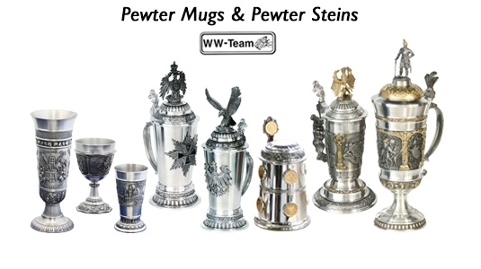 Pewter Mugs & Pewter Steins